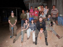 Team after removing huge male of Monocled Cobra from these villagers household