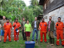 Team after removing Indochinese Spitting Cobra Nasi009 from a house.