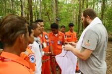 Snake handling workshop organized by SCSET for Rescue Teams