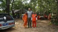 With Mr. Mee who is our connection with Rescue Teams (on left)