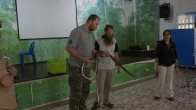 We present how to claim down Oriental Rat Snake Ptyas mucosa